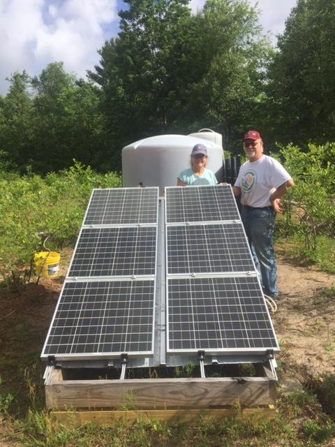 Solar panels, Steve and Susan