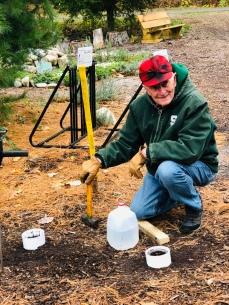 Dr. George Bird teaching soils program