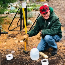 Dr. George Bird teaching soils program